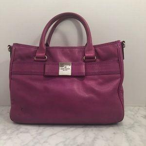 Hot pink magenta Kate spade tote bag